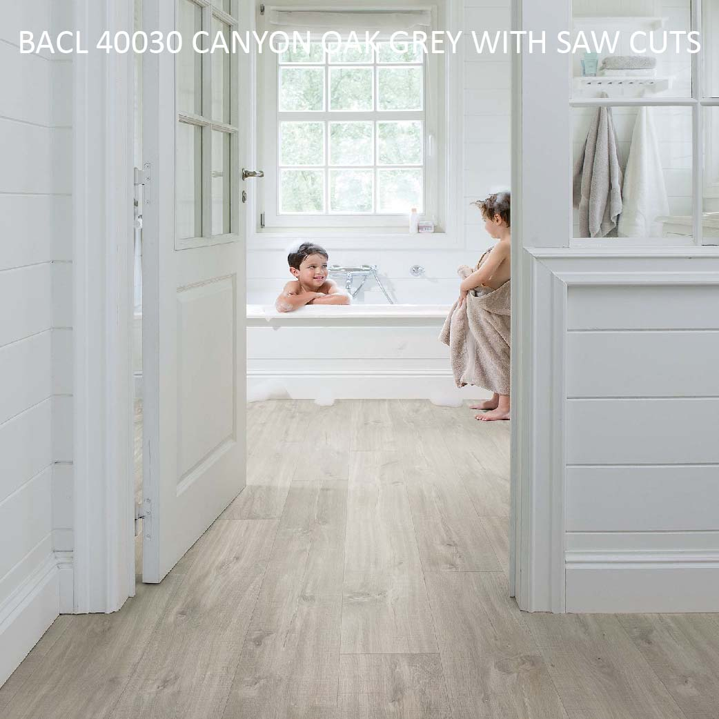 BACL 40030 CANYON OAK GREY WITH SAW CUTS
