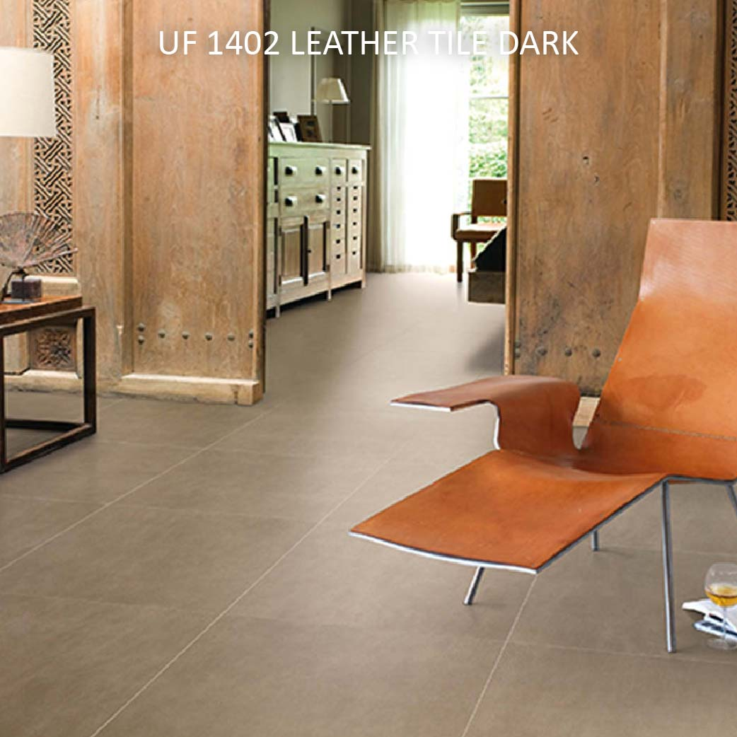 UF 1402 LEATHER TILE DARK
